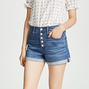 Madewell high rise denim shorts button fly size 23